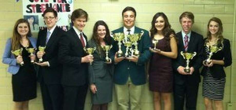 Forensics students from Friendswood High School competed in the Bellaire High School Speech Tournament competition Oct. 19. Photo: Friendswood High School