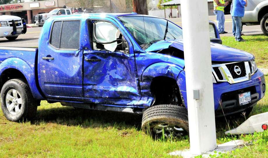 A three-vehicle accident in Lumberton on Monday sent three to the hospital. Photo: Cassie Smith