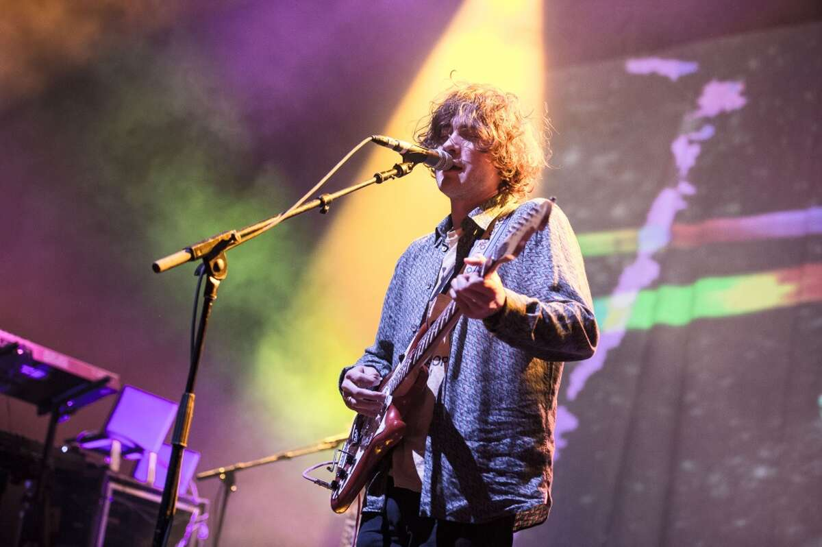 MGMT performs at l' Olympia on October 8, 2013 in Paris, France. After graduation, MGMT was signed to Columbia Records. The band released its debut album,