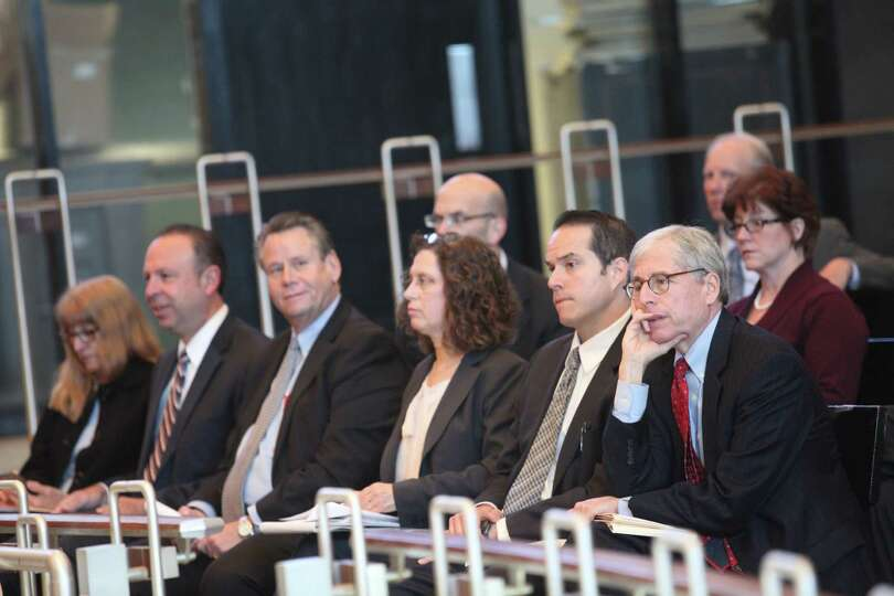U.S. Sen. Richard Blumenthal chairs a hearing on the September Metro North power outage at Bridgepor