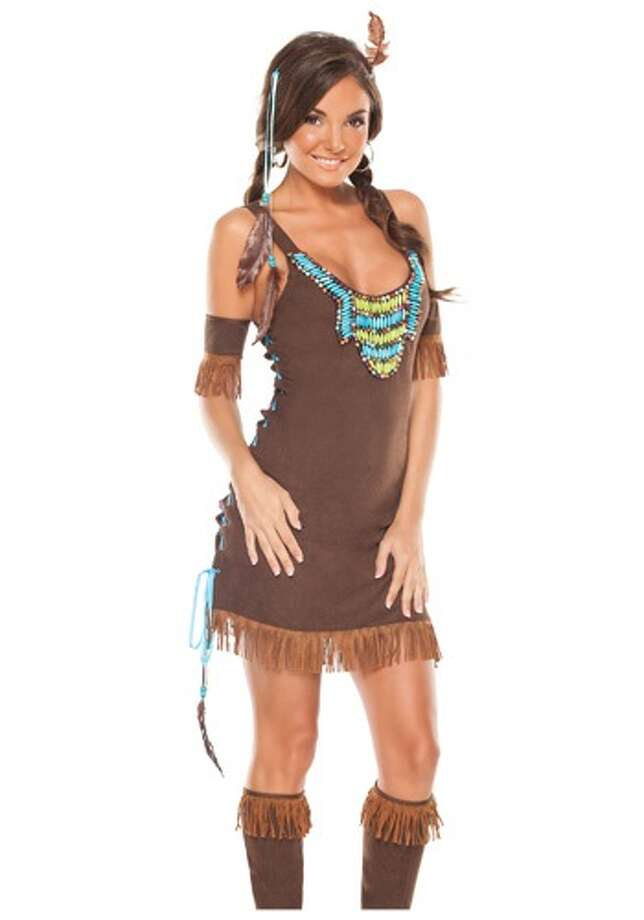 Native American:Indian-themed costumes trivialize Native American culture. These costumes also ignore growing outrage over the  use of Native American mascots. Photo: Photo From Halloweencostumes.com.