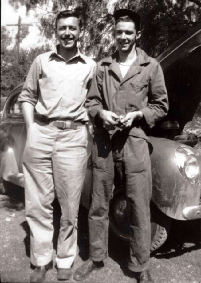Then:Kurt Voss, Sr. (left), and Charles Ruble pose in 1946, shortly after returning from service World War II. The two met in junior high school and have been friends ever since. They graduated from Burbank in 1941 and served as best man in the other s wedding. Photo: Handout, Voss, Reader Submission