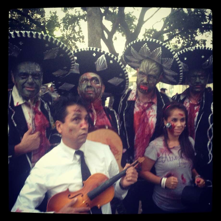 Zombie mariachis never gets old. Photo: Benjamin Olivo, MySA.com