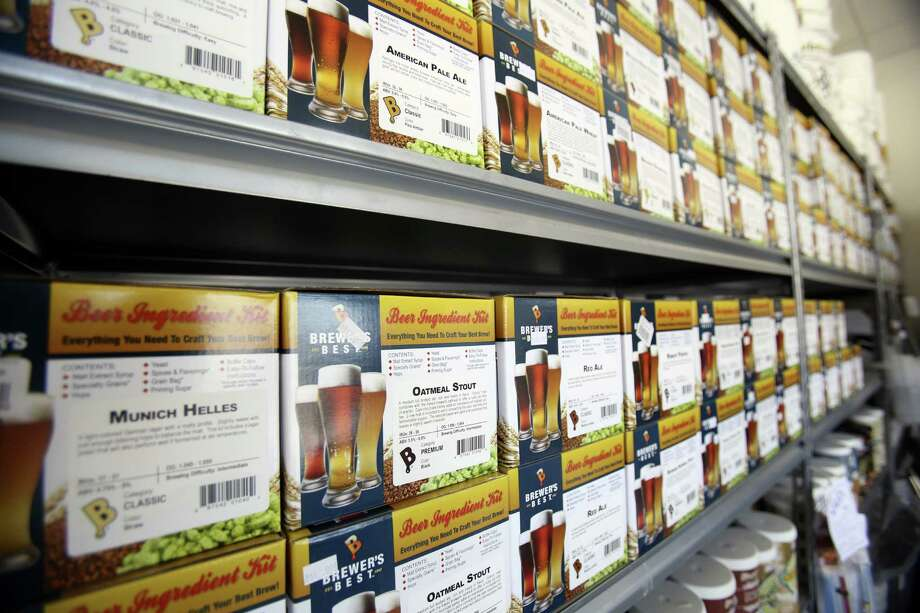 Beer Ingredients sit on a shelf at Homebrew Party. Homebrew Party opened a second store last year. The American Homebrewers Association released a survey, showing a 26 percent jump last year in revenues for homebrew shops. Photo: Helen L. Montoya / San Antonio Express-News