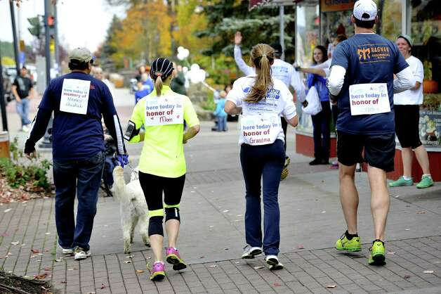 Participants in the first Free to Breathe Lake George 5K Run and Walk do their part on Oct. 19 to raise more than $37,000 for the National Lung Cancer Partnership. Proceeds support the partnership?s programs dedicated to doubling lung cancer survival by 2022. (Submitted by Stephanie Colpo) Photo: Picasa