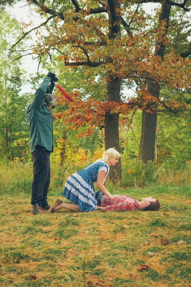 Vanessa Lawson and Josh Morden's Friday the 13th engagement photos. Photo: Photography By Brandon Gray