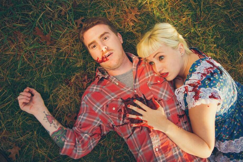 Vanessa Lawson and Josh Morden's Friday the 13th engagement photos. Now on to the next gory engagement shoot... Photo: Photography By Brandon Gray