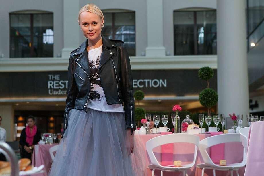 Bloomingdale's fashion show was part of the Pink Fashion Tea Under the Dome at Westfield San Francisco Centre on Oct. 6. Photo:  Jana Asenbrennerova, Jana Asenbrennerova