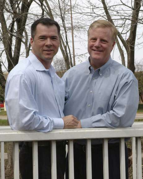 Vic Holmes (left) and Mark Phariss of Plano are two of the four plaintiffs named in the lawsuit. Phariss and Holmes met in San Antonio and lived here until 2003. Photo: Courtesy Photo