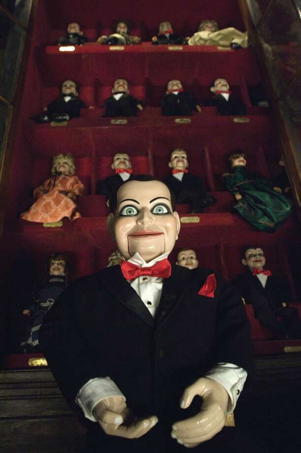 """Puppets:  What's creepier than a homicidal puppet? How about 100 homicidal puppets? In """"Dead Silence"""" (2007), the puppets of ventriloquist Mary Shaw avenge their master's murder, seeking out victims and cutting out their tongues. Jigsaw's puppet Billy even makes an brief appearance in a scene when they're exploring Mary Shaw's dressing room. Goosebumps' """"Night of the Living Dummy"""" (1990s) also deserves a shout out for their sadistic puppet Slappy, who has terrorized books and movies for 2 decades. Photo: Photo Credit: Michael Gibson / U"""