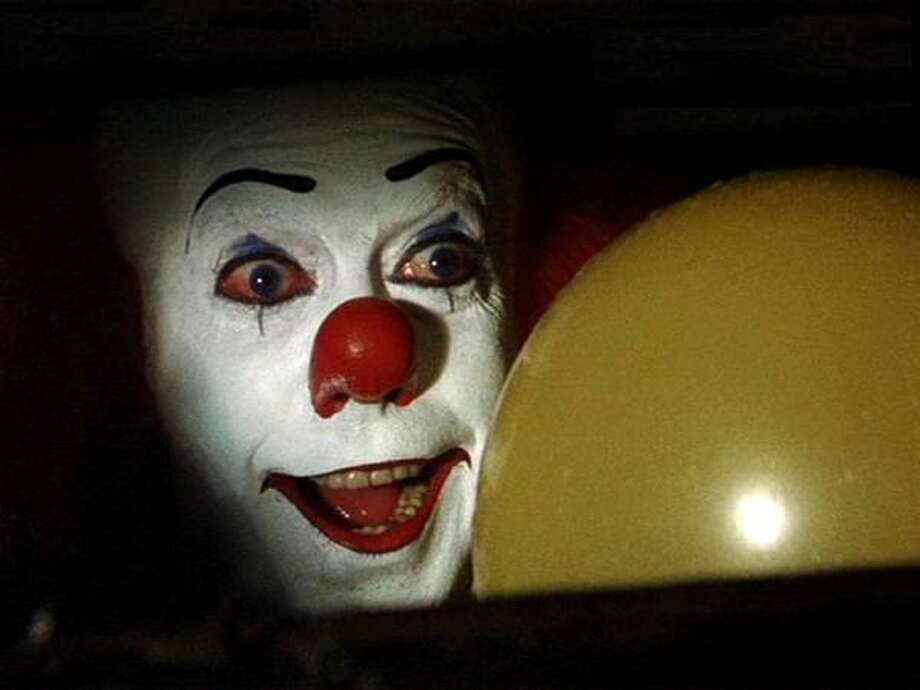 """Balloons:  While usually evoking bubbly feelings of carefree jubilation, the balloons in Stephen King's """"It"""" (1990) were filled with a genuine sense of terror ... and blood. Pennywise, the dancing (psychotic) clown offering Georgie """"cotton candy, rides"""" and """"balloons of all colors,"""" in the opening scene is especially scarring. Tim Curry saying, """"Oh, yes. They all float down here ..."""" still makes me shudder. Photo: Handout, ABC"""