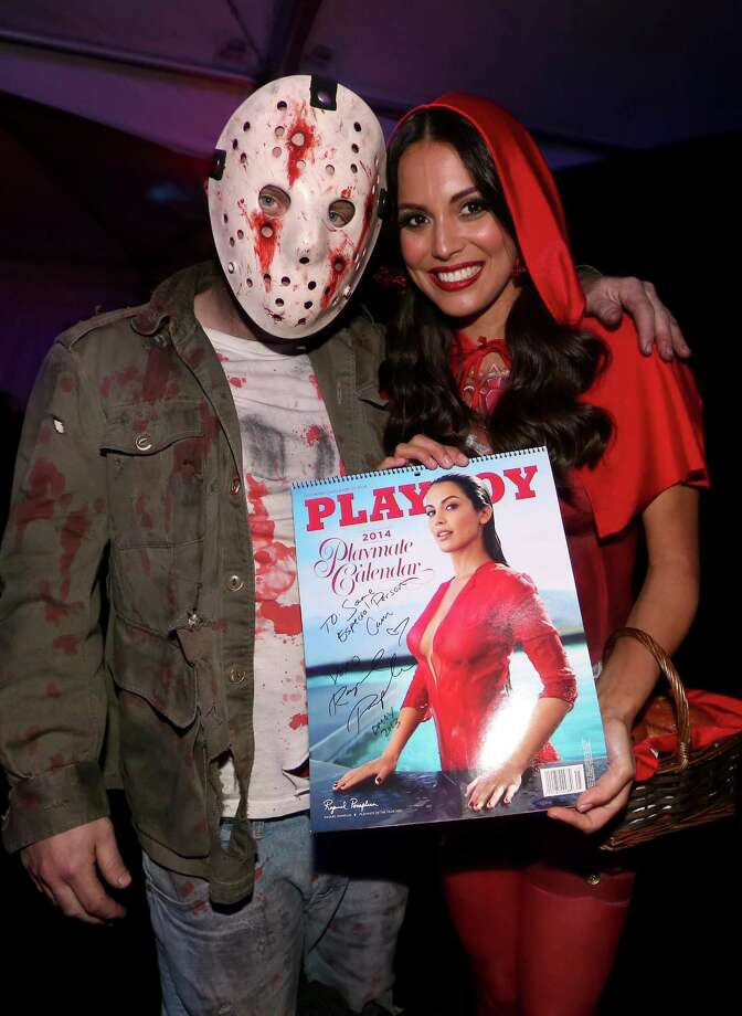 Playmate of the Year Raquel Pomplun attends Playboy Mansion's annual Halloween bash on October 26, 2013 in Holmby Hills, California. Photo: Christopher Polk, Getty Images / 2013 Getty Images