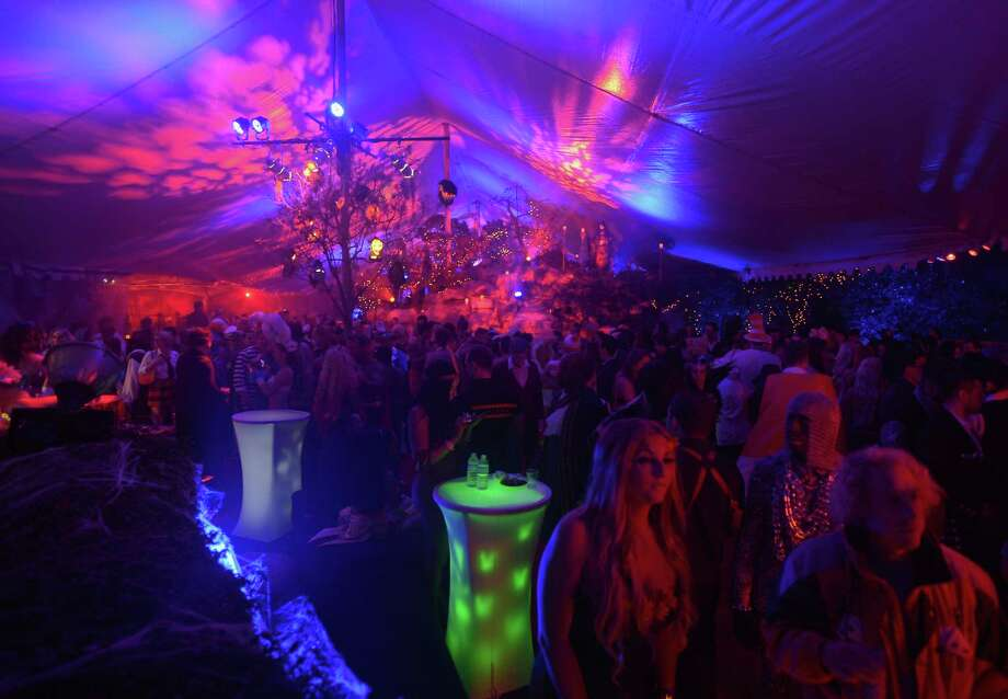 A general view of the atmosphere at Playboy Mansion's annual Halloween bash on October 26, 2013 in Holmby Hills, California. Photo: Charley Gallay, Getty Images / 2013 Getty Images