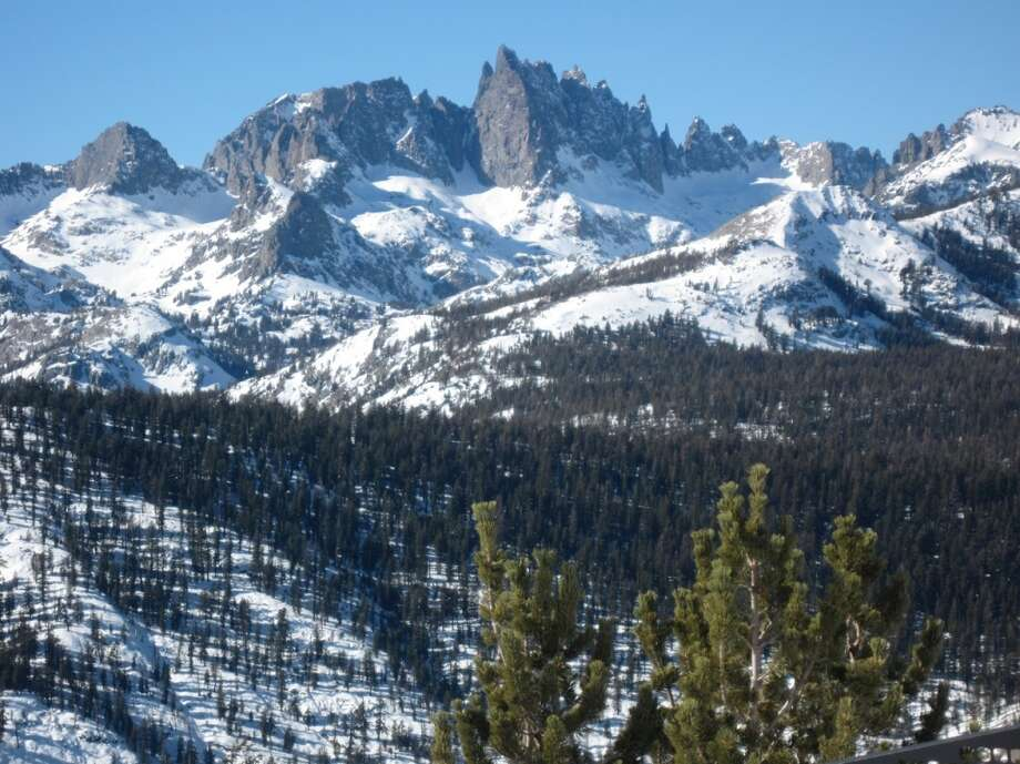 Serious peaks on a jagged horizon at Mammoth. Photo: Jules Older, Special To The Chronicle