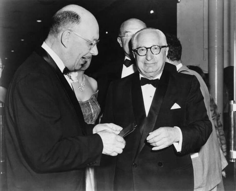 American film producer Louis B. Mayer (1884 - 1957, right) -- legendary and much feared studio boss. Photo: Pictorial Parade, Getty Images / 2010 Getty Images