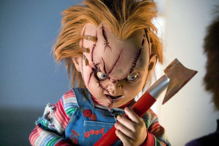 """Dolls:  Pretty much any doll that makes a cameo in a horror movie is terrifying, but one of the most recognizable is the toddler-sized talking doll Chucky from """"Child's Play"""" (1988).  The possessed two-foot tall hunk of plastic terrorizes the family that bought him as he attempts to reincarnate himself throughout the movie. One of the freakiest scenes is when the doll utters its tradmark phrase, """"Hi, I'm Chucky,"""" and then the mom discovers she never installed the batteries. Not cool. Photo: ROLF  KONOW, AP"""