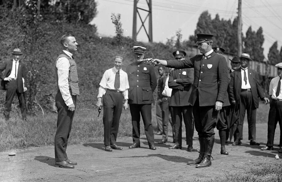 Bullet proof vest, 1923Great idea, but who wants to be the guy on the left? Photo: Buyenlarge, Getty Images / Archive Photos