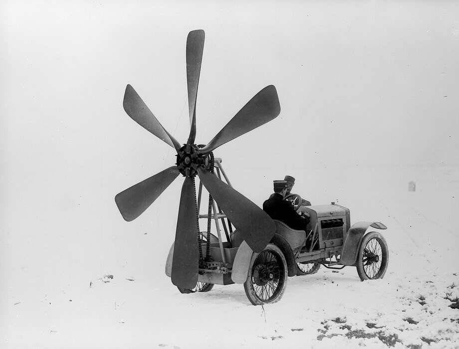 Air-drive car, 1913You wouldn't want to get stuck behind this clown on the highway. Photo: Branger, Roger Viollet/Getty Images / Roger Viollet