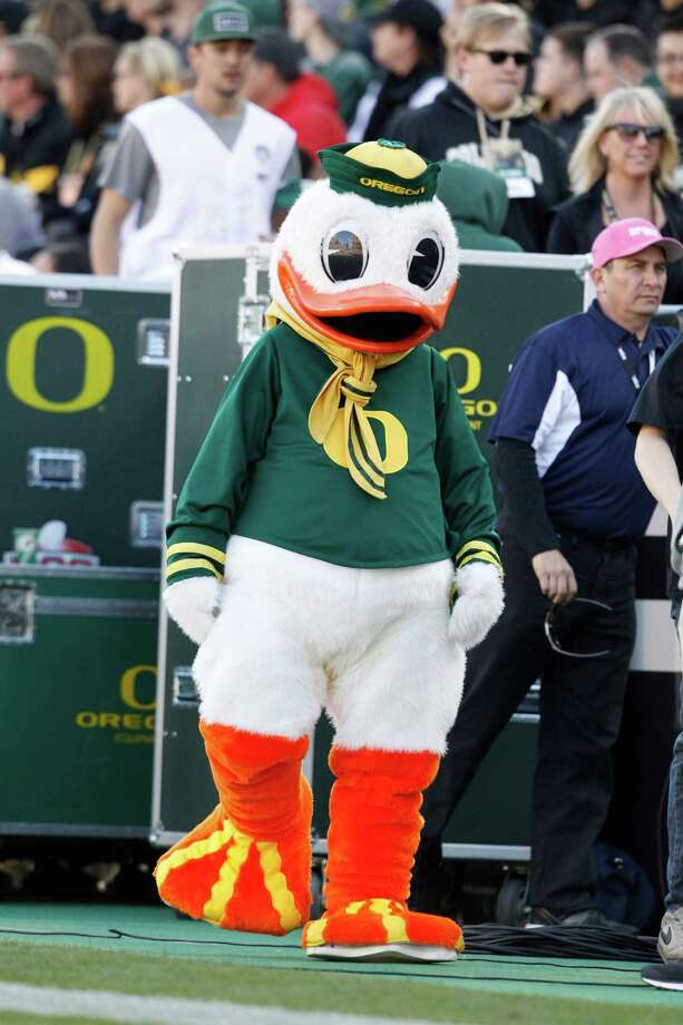 The Oregon Duck replaced the Webfoots as the official mascot.  Photo: David Zalubowski, Associated Press / AP