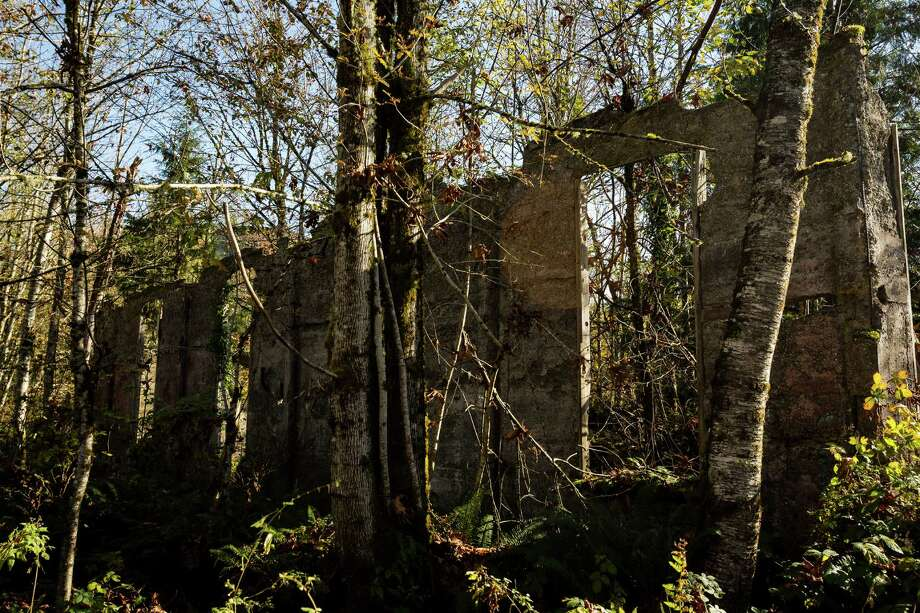 A view of the rear wall of the old Pacific States Lumber mill Monday, Oct. 28, 2013, in Selleck. Photo: JORDAN STEAD, SEATTLEPI.COM / SEATTLEPI.COM