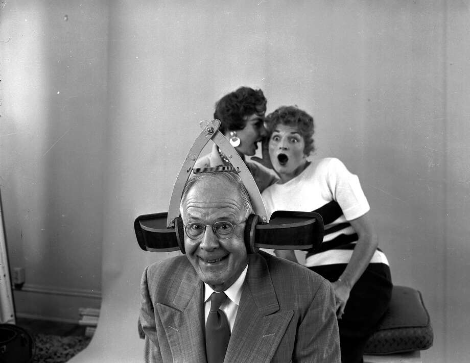 Eavesdropping ear trumpets, 1955You don't need an apparatus to figure out that these women are talking about how this guy looks like a moron. Photo: Evans, Getty Images / Hulton Archive