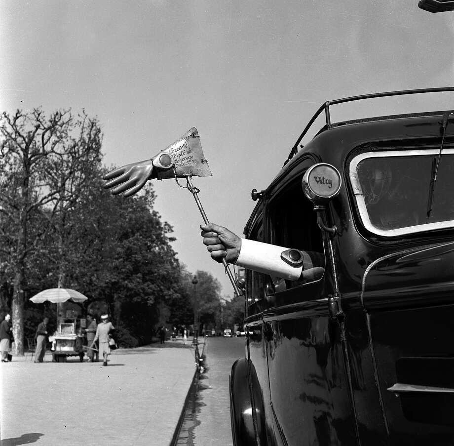 Turn signal, 1955Are you are telling me I gotta have a random dude in my passenger seat in case I want to hang a right? Photo: Vagn Hansen, Getty Images / Hulton Archive