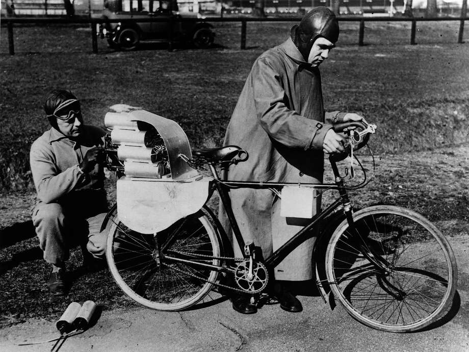 Rocketbike, 1931This is a horrible, horrible idea and I want one so badly. Photo: Topical Press Agency, Getty Images / Hulton Archive