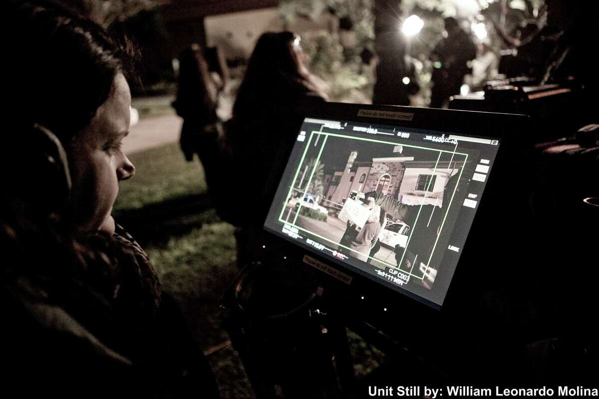 """Michelle Mower directs a scene from her second movie """"The Preacher's Mistress."""" Michelle Mower directs a scene from her second movie """"The Preacher's Mistress."""""""