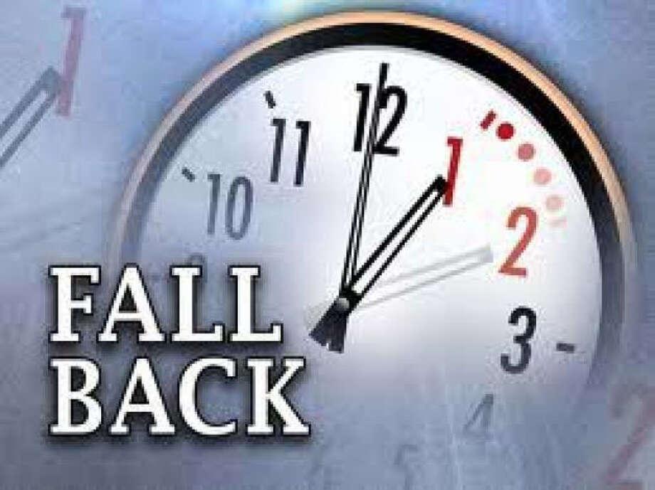 Set Your clocks back Sunday