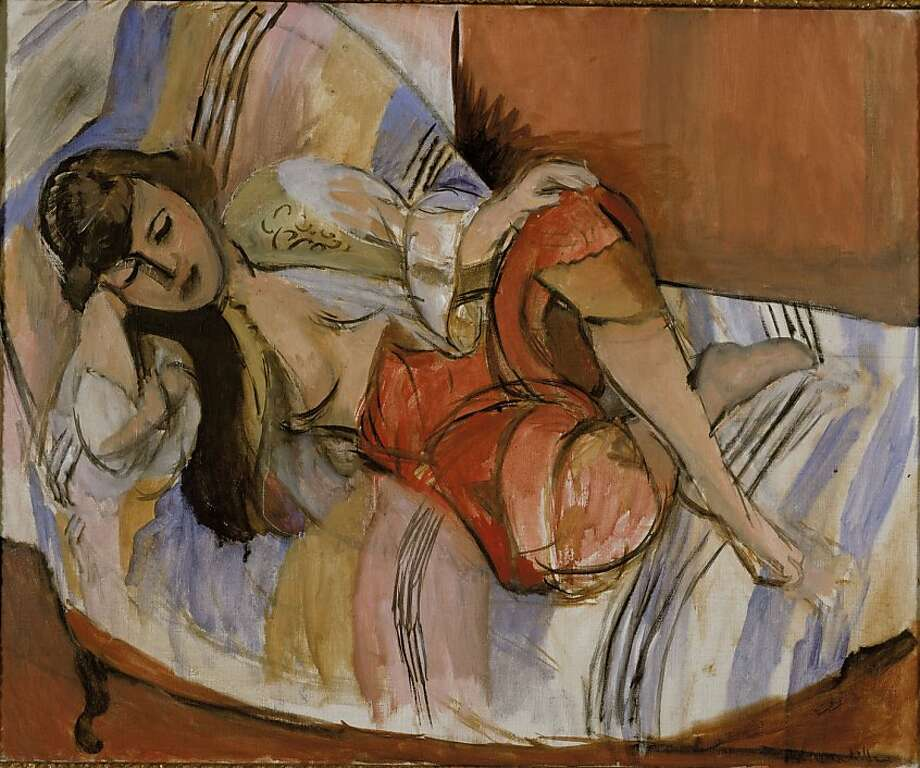 This photo provided by Stedelijk Museum in Amsterdam on Tuesday, Oct. 29, 2013, shows the 1921 painting Odalisque by Henri Matisse. Dutch museums have identified 139 pieces of art, including dozens of paintings, one by Matisse and many by Dutch painters of varying renown such as Impressionist Isaac Israels, as likely having been taken forcibly from Jewish owners. (AP Photo/Van Abbemuseum) Photo: Associated Press