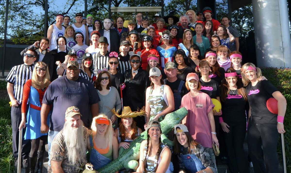 Dressing up at Halloween is a tradition at commercial property underwriting company AmRisc.