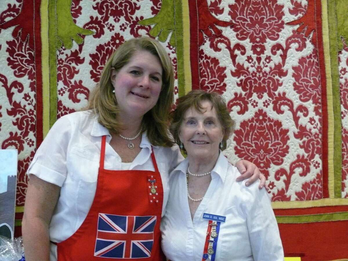 Sharon Pruitt, left, and Joan Gol are organizers of the 40th annual British Festival in Sugar Land on Nov. 2.