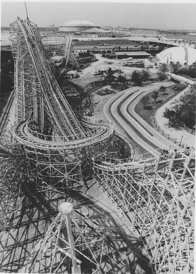 Pictured is an overview shot of the Texas Cyclone in AstroWorld. Photo: Houston Chronicle