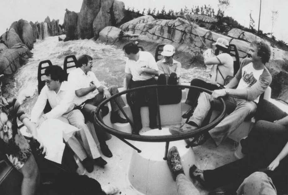 Thunder River participants knew they were bound to get wet. The ride is pictured in May 1980. Photo: David Breslauer, Houston Chronicle