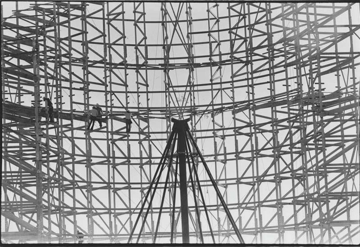 Pictured in January 1976 is AstroWorld's infamous Texas Cyclone. It opened in the summer of 1976 and was a replica of the Coney Island Cyclone roller coaster. The track required 336,000 feet of boards and 14,000 feet of linear track.