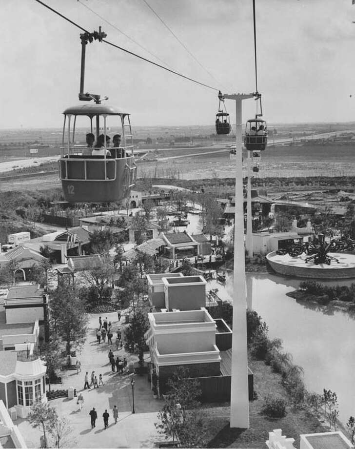 The Astroway at AstroWorld gave guests a bird's-eye view of the park. It is pictured here on June 1, 1968. Photo: Houston Chronicle