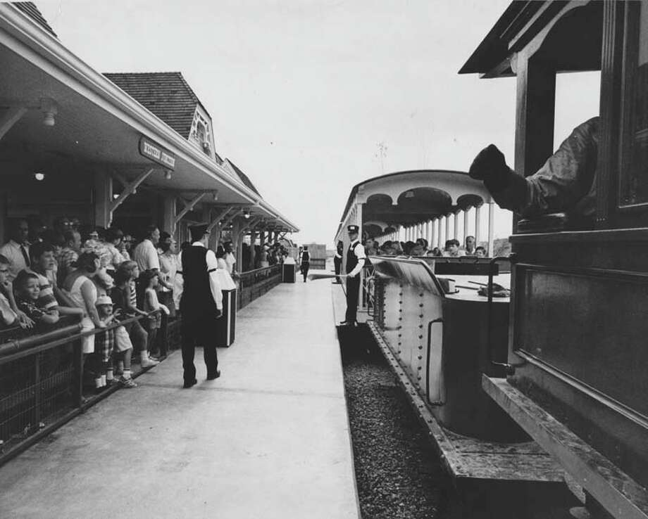 AstroWorld's 610 Limited train carried passengers across the park. It is pictured here on June 1, 1968. Photo: Houston Chronicle