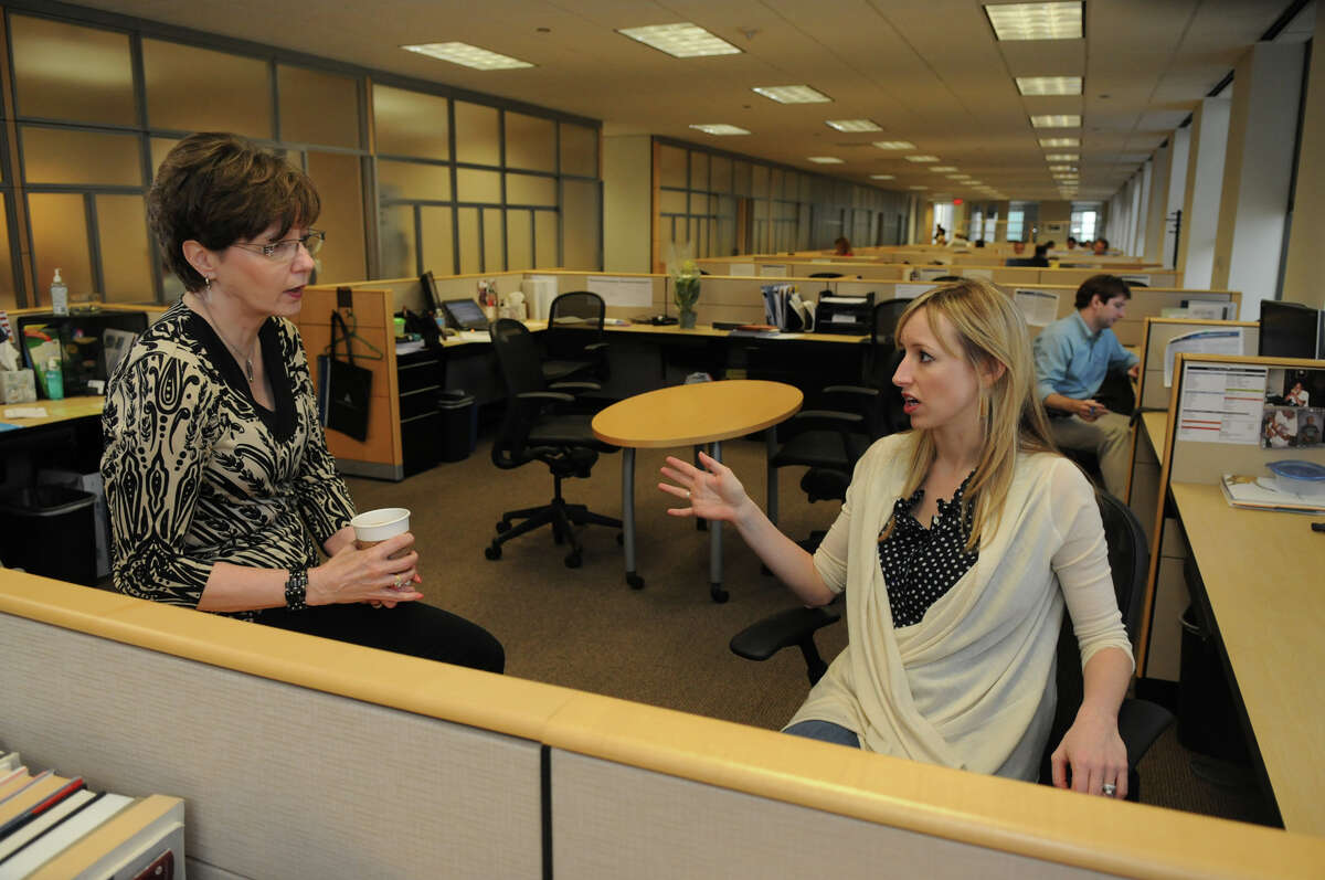 Director Doreen Dorris, left, of The Woodlands, and Manager Sarah Chenault both work for Alvarez & Marsal, one of Houston's top workplaces.