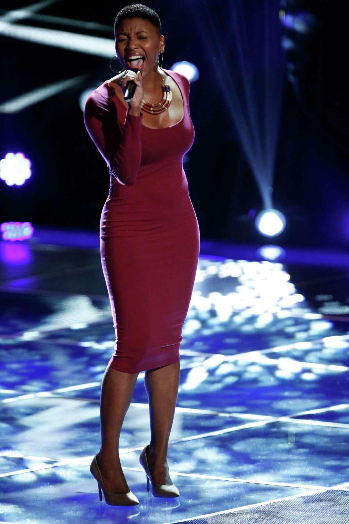 "Tamara Chauniece competes on ""The Voice."" Tamara Chauniece competes on ""The Voice."""