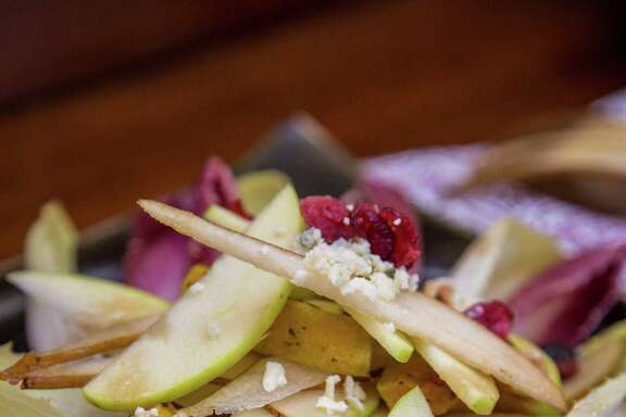 "Endive, Squash and Pear Salad with Dried Figs and Hazelnuts from ""Backstreet Kitchen: Seasonal Recipes from Our Neighborhood Cafe"" by Tracy Vaught and Hugo Ortega."