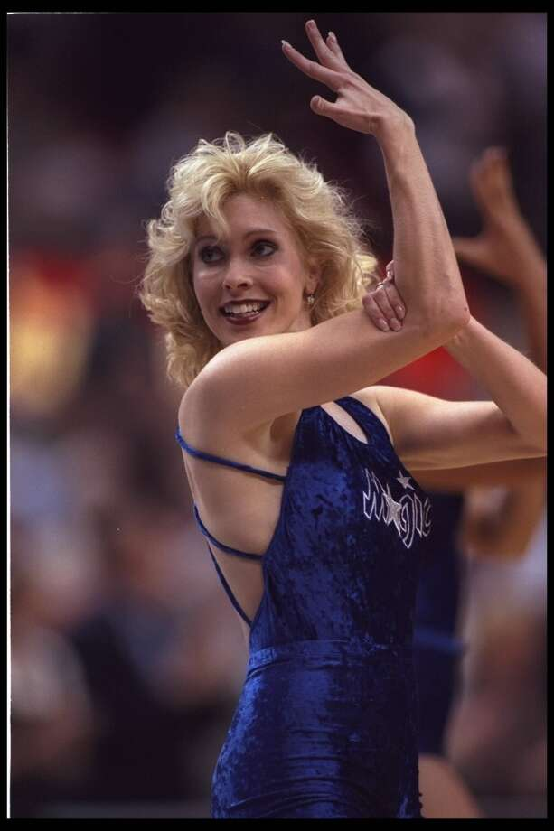Orlando Magic dancer, 1996 Photo: DK Photo, Getty Images