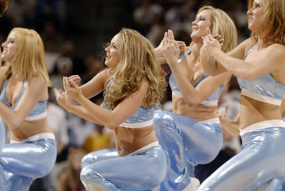 Denver Nuggets dancers, 2003 Photo: Brian Bahr, Getty Images