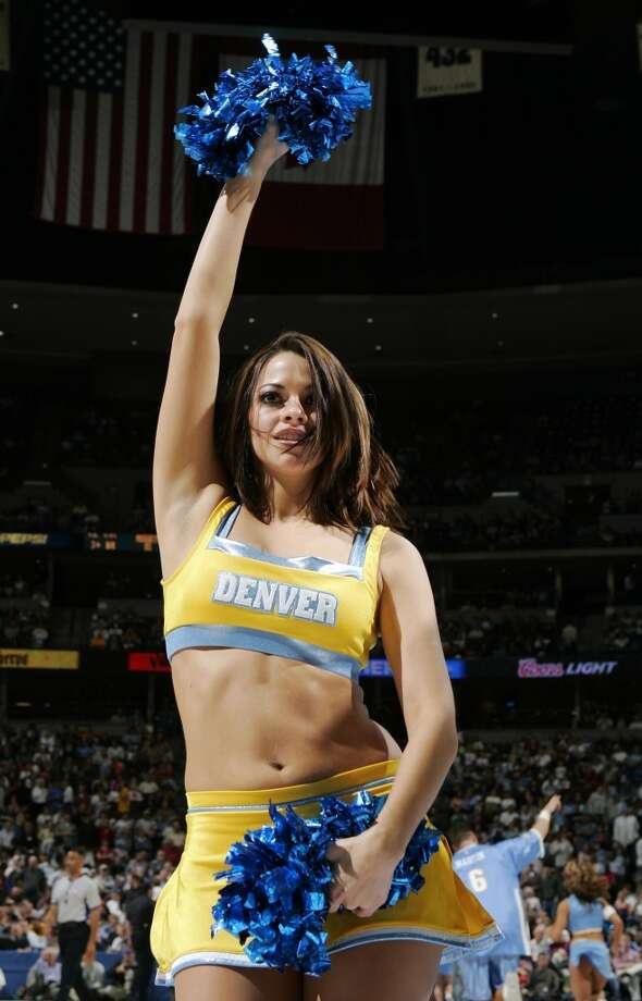 Denver Nuggets dancer, 2005 Photo: Brian Bahr, Getty Images
