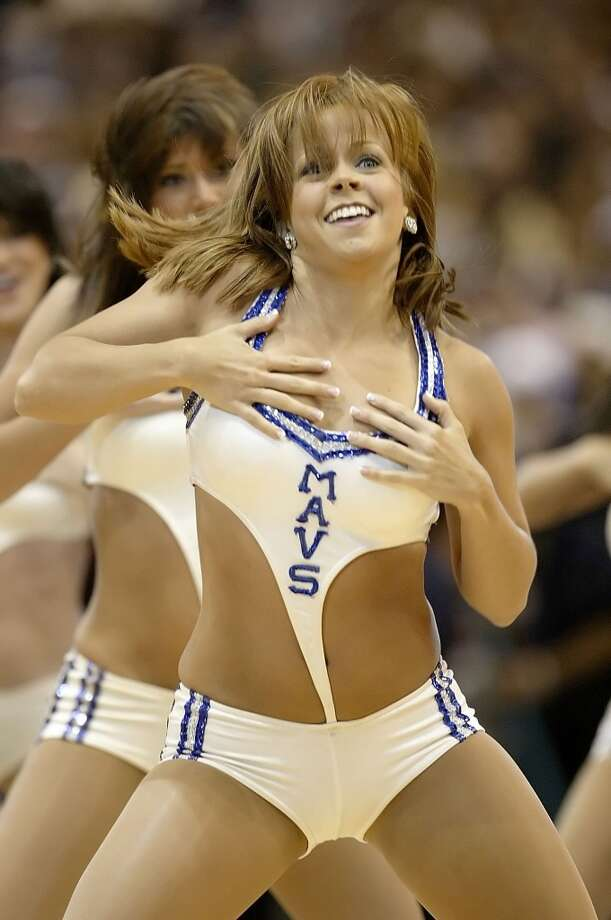 Dallas Mavericks dancer, 2006 Photo: Ronald Martinez, Getty Images