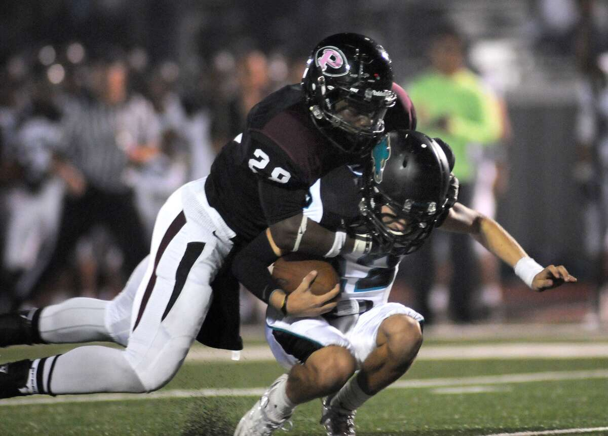Pearland senior defensive back Marlon Walls, left, has been part of a stellar Stop Corps this season for the Oilers, who will face their toughest test yet in crosstown rival Manvel Friday.