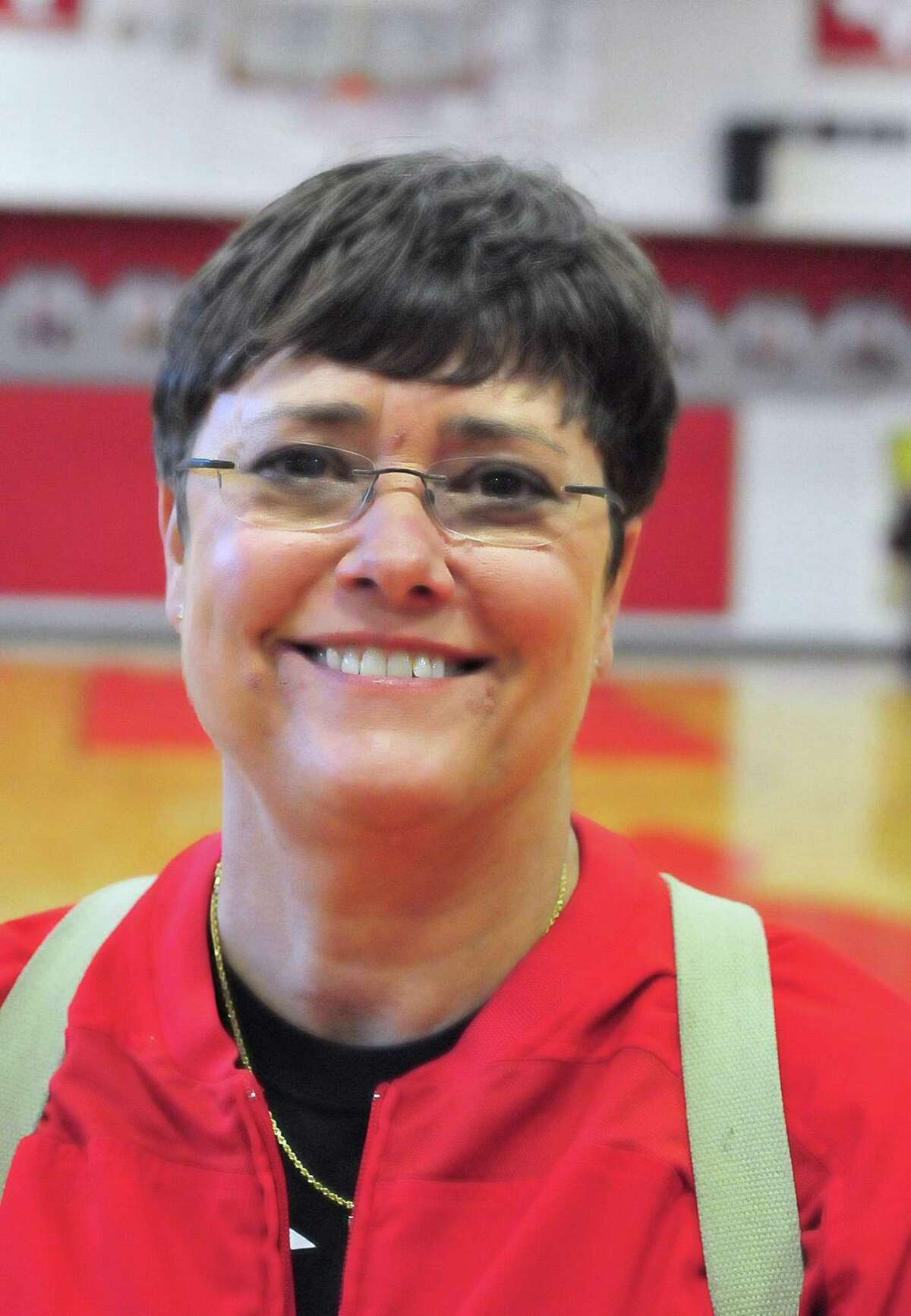Memorial High School volleyball head coach Beth Gammill after their game with St. Agnes at Memorial Tuesday 9/10/13.