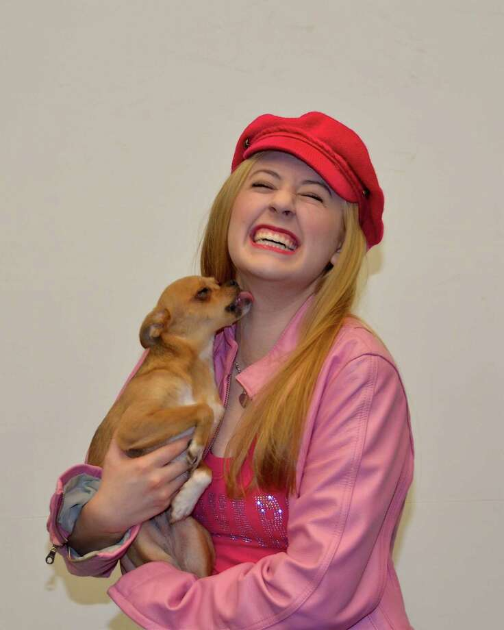 """Ashley Karolys is one of two actresses portraying """"Elle Woods"""" in the Stratford Playhouse production of """"Legally Blonde The Musical."""" The other is Emily Lindsey. Photo: Claire Sharp"""