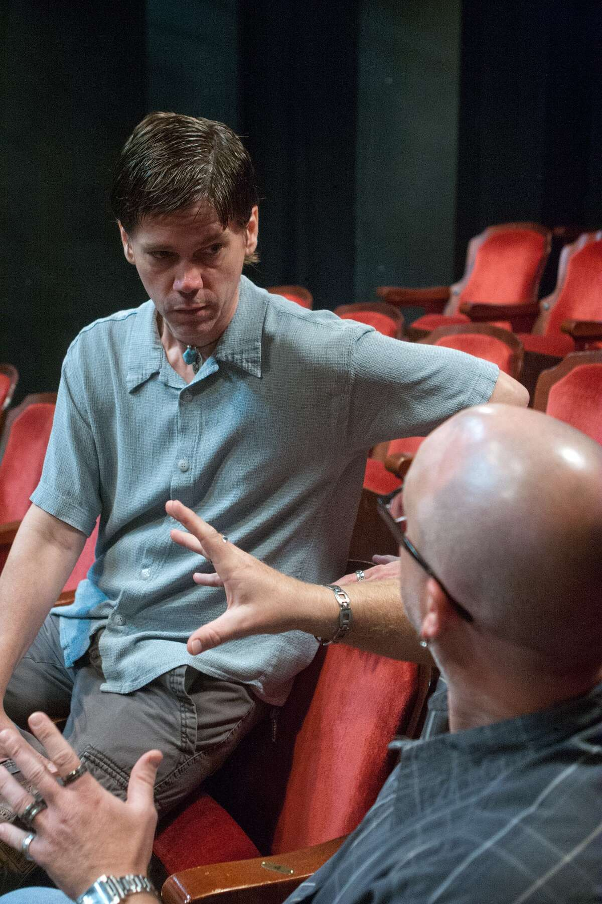 """""""Veronica's Room"""" actor Dwight Clark dicusses the play with director Josh Morrison."""