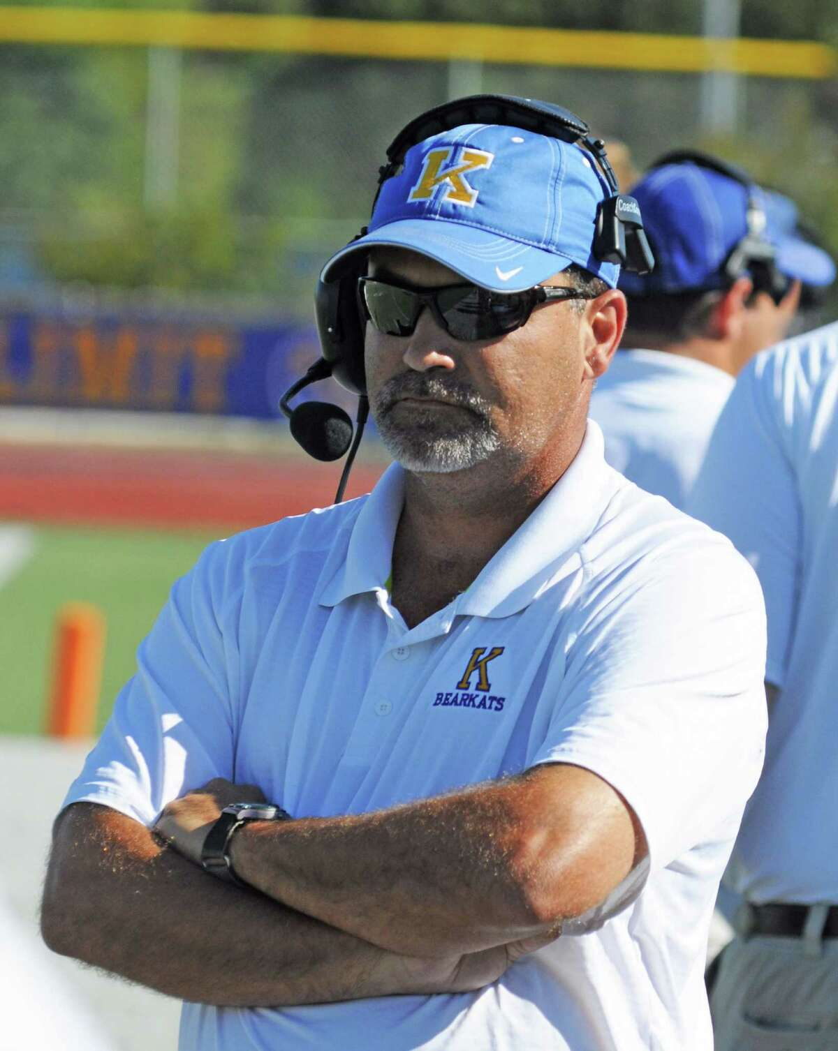 Klein football head coach Shane Hallmark during a 48-16 Westfield victory at Klein on 10-1-11. Klein looks to bounce back at 7 p.m. Friday, Oct. 7, 2011 against Spring at George Stadium.
