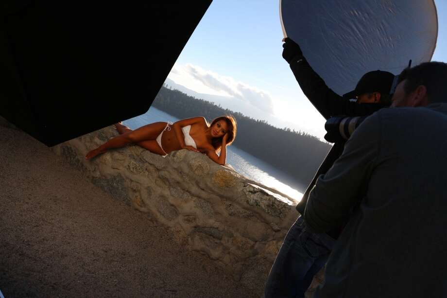 The Warriors Girls shot their 2014 calendar in South Lake Tahoe in early October. Photo: Warriors.com, Courtesy